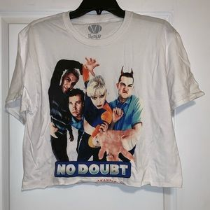 No Doubt cropped Tour shirt